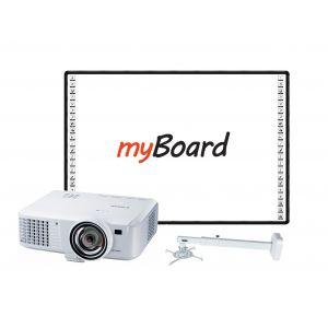 Zestaw interaktywny MyBoard Black 82'' + projektor krótkoogniskowy Canon LV-X310ST wraz z uchwytem