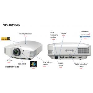 SONY VPL-HW65ES/W + Kabel HDMI lub Uchwyt Gratis