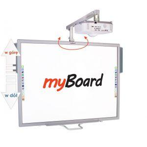 Zestaw interaktywny myBoard Silver 84''C, projektor CANON LV-X310ST oraz głośniki myBoard sound AMP-32