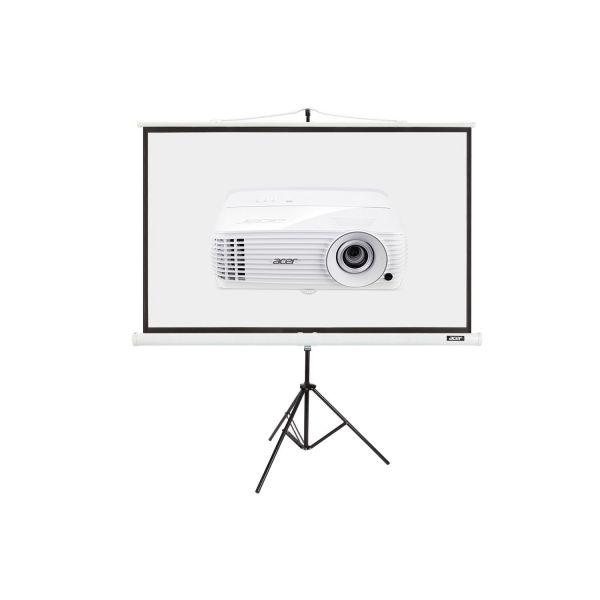 "Projektor Acer P1650 + Ekran T82-W01MW 82.5"""