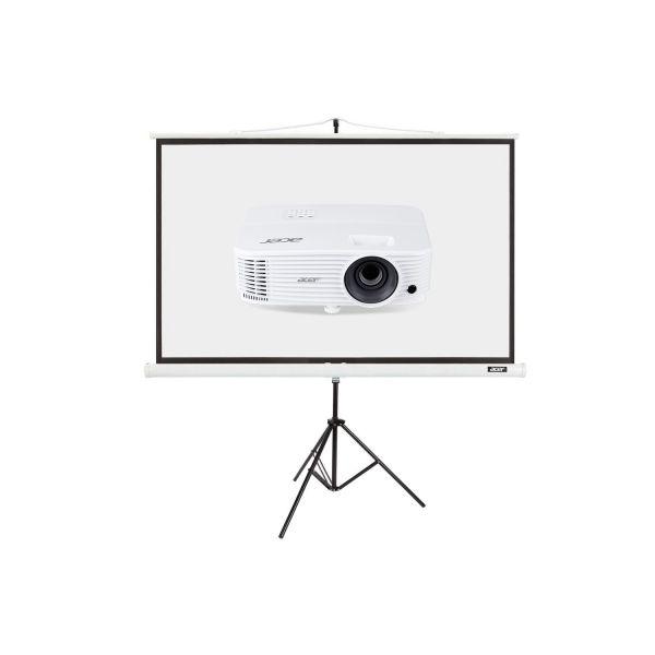 """Projektor Acer P1350W + Ekran T82-W01MW 82.5"""""""