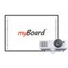 Zestaw interaktywny myBoard Black 82''C, projektor Canon LV-X310ST, uchwyt  oraz głośniki myBoard sound AMP-32
