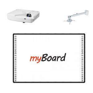 Zestaw interaktywny: Projektor Ricoh PJ XL4540 + Tablica myBoard Black 82 Ceramic + Uchwyt Avtek NEXT 1200 - 1