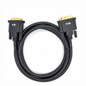 TB Kabel DVI MM 24+1 1.8 m. czarny, pozłacany
