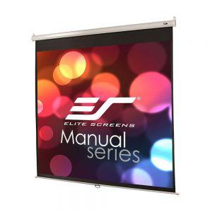 Ekran manualny Elite Screens M99NWS1 178x178 (1:1) biała kaseta