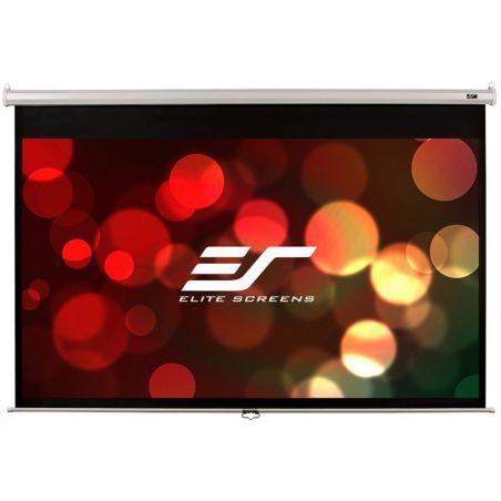"Ekran manualny Elite Screens M100XWH 221×125 (16:9) 100 bia³a kaseta"""