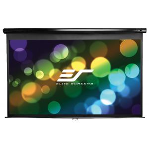 "Ekran manualny Elite Screens M100UWH 221×124 (16:9) 100"" czarna kaseta"