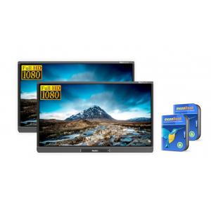 Zestaw: 2x monitor Newline TruTouch TT-6517FB + 2x MozaBook Classroom